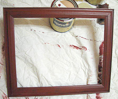 Distressing a Picture Frame - Lara Berch Designs