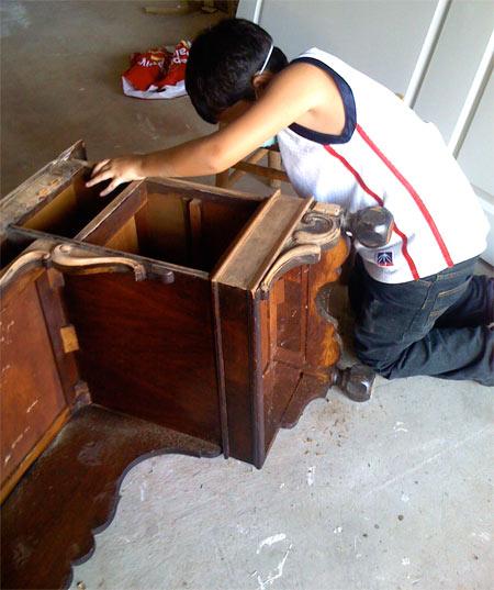 Old Desk Sanding